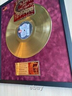 Pavement Slanted And Enchanted 1992 Custom 24k Gold Vinyl Record in Wall Frame