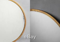 Perch & Parrow Newport Round Wall Mirror in Antique Gold