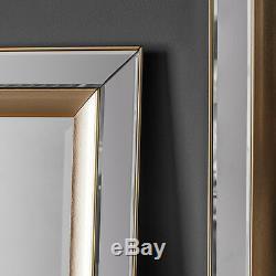 Phantom FULL LENGTH Leaner wall MIRROR Venetian Glass Frame Gold Edge 62 x 27