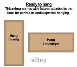Phantom Venetian Glass Frame Gold Rectangle Overmantle Wall Mirror 109.5x79cm