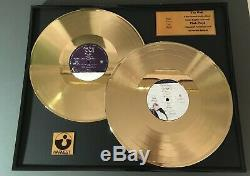 Pink Floyd The Wall Double Gold Vinyl Record in black frame Best Gift Idea