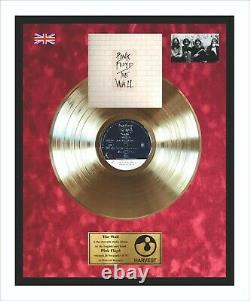 Pink Floyd The Wall Vinyl Gold Metallized Record In Frame