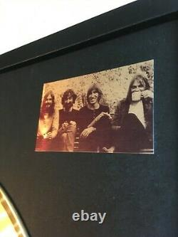 Pink Floyd Wish You Were Here Custom 24k Gold Vinyl Record In Wall Hanging Frame