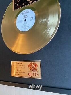 Queen The Game 1980 Framed Custom 24k Gold Vinyl Record in Wall Hanging Frame