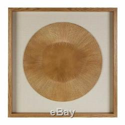 REDUCED Premier Interiors gold wood carved framed wall art large 80cm