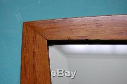 REFLECTIVE TOUCH RETRO-DANISH BEVELLED MIRROR-18x223KG-LONG CHAIN-TEAK FRAME