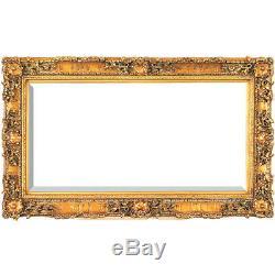 Renaissance Ornate Chateau Marquis Gold Leaf Wall Frame, 35'' x 47''H