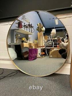 Rockett St George Round Gold Framed Wall Mirror XL- RSG1140- RRP £325