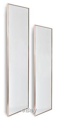 Rose Gold Large Metal Framed Full Length Wall Mirror 40x120cm 50x150cm