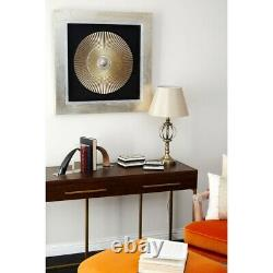 Round Carving Framed Wall Art