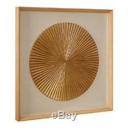 Round Fan Carving Framed Wall Art