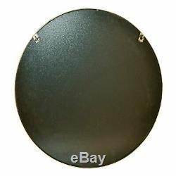 Round Feature Contemporary Gold Circular Frame Wall Mounted Mirror Circle Design