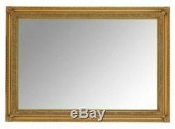 STUNNING ANTIQUE GOLD EXTRA LARGE WALL MIRROR Overall Size 104cm x 74cm