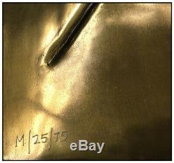 Salvador Dali Gold Edition Bronze Sculpture Wall Relief Signed Ten Commandments