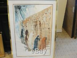 Salvador Dali Wailing Wall Signed #44 Of 250 Gold Framed 40 By 29