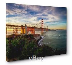 San Francisco Golden Gate Bridge Gallery CANVAS WALL ART PRINT (Ready to Hang)