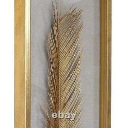 Set Of Three Sago Palm Leaf Inspired Shadow Box Wall Art XXL 48 Uttermost 04176
