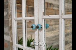 Shabby Chic Window Wall Mirror Rustic Arched Shutter Georgian Design