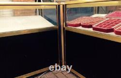 Shop Showcase Counter Top Aluminium Gold with Glass Display Frame Ex Jewelers