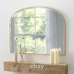 Simplicity Antique Gold Frame Sleek Modern Overmantle Wall Mirror W92cm x H70cm