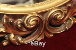 Stunning Vintage Large Gold Ornate Wall Hanging Mirror 23.5 x 23.5