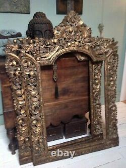 Stunningly Dramaic Huge Hand Carved Antiqued design Wall Art frames x 2 New