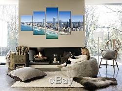 Surfers Paradise Canvas Print Painting Framed Home Wall Decor Gold Coast Poster