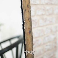 Tall Rustic Gold Framed Mirror wall brass industrial modern slim brass rusted