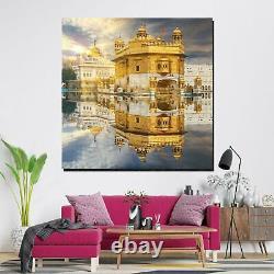 The Beauty of Golden Temple Harmandir Sahib Sikh Canvas Art Print for Wall Decor