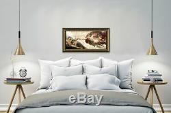 The Creation Of Adam by Michelangelo Framed canvas Wall art painting print