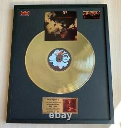 The Cure Disintegration Custom 24k Gold Vinyl Record in Wall Hanging Frame