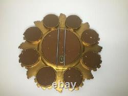 VTG Original Cameo Creations Ornate Gold Tone Frame Women Wall Convex Mirror 15
