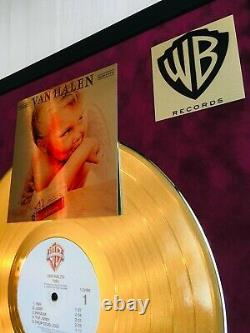Van Halen 1984 MCMLXXXIV Custom 24k Gold Vinyl Record in Wall Hanging Frame
