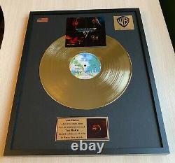 Van Halen Van Halen I 1978 Custom 24k Gold Vinyl Record in Wall Hanging Frame