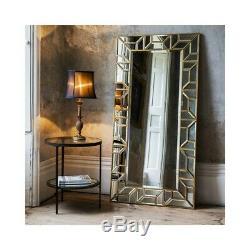 Verbier Gold Frame Large Leaner Wall Mirror 172cm x 86cm