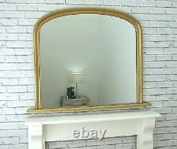 Victoria French Ornate Style X Large Overmantle GOLD Leaf Wall Mirror 119 x 94cm
