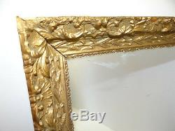 Victorian Style Used Old Framed Cornstalk Pattern Molded Wood Wall Vanity Gold