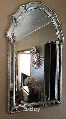 Vintage 1960s La Barge Wall Mirror Gold Silver Gilt Double Frame 44x26 Italian