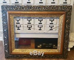 Vintage Antique Gold Carved Wall 37.5x 32 Wood Ornate Art Frame Free Shipping