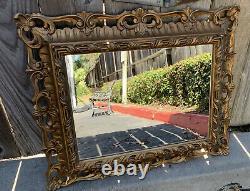 Vintage Antique Ornate Gold Gilding Frame Wall Mounted Mirror Hanging Baroque