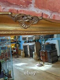 Vintage Bevelled Ornate Gold Gilt Wood Frame Wall Mirror Antique Style