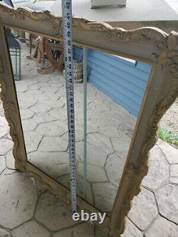 Vintage Mid-Century Ornate Decorative gold frame Mirror Manuf Assoc Wall Mirror
