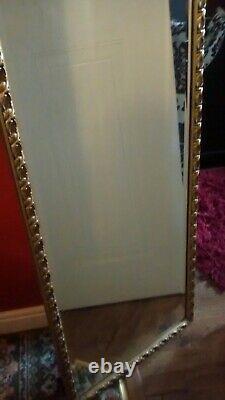 Vintage Ornate Gold Framed Wall Mirror