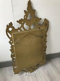 Vintage Ornate Gold Framed Wall Mirror Lovely Oval Gold Portrait Mirror