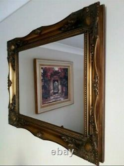 Vintage Rococo French Style Ornate Gold Gilt Gild Frame Wall Mirror PICK UP ONLY
