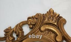 Vintage Wall Mirror Gold Frame Italian Florentine Louis XV 38 x 20