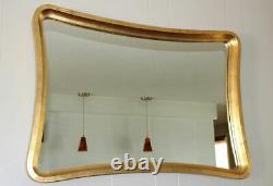 Vintage thick gold framed wall mirror Hollywood Regency Italian 35