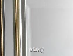 Vogue Large Rectangle Wall Mirror Venetian Glass Frame Gold Edge 101cm x 75cm