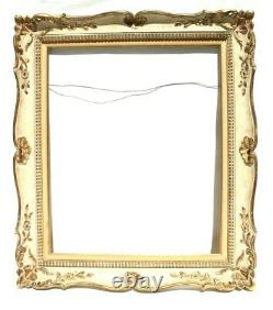 Vtg Antique Gold Wood ORNATE / Victorian Wall Hanging PICTURE Art Mirror FRAME