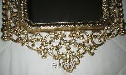 Vtg Victorian GOLD FRAMED SYROCO WALL MIRROR HOMCO 2041 ART NOUVEAU 32 3/4 H